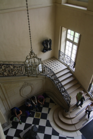Looking down at the Entry of Musee Rodin
