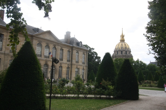 Musee Rodin with the Dome of Les Invalides in the background