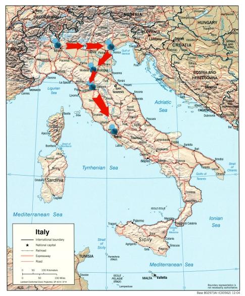 map itenirary