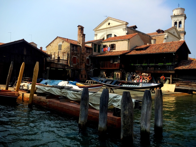 This is where they hand craft the gondolas.