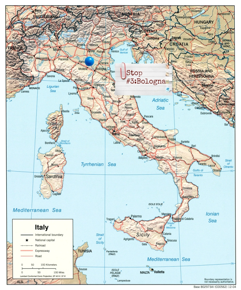 map bologna