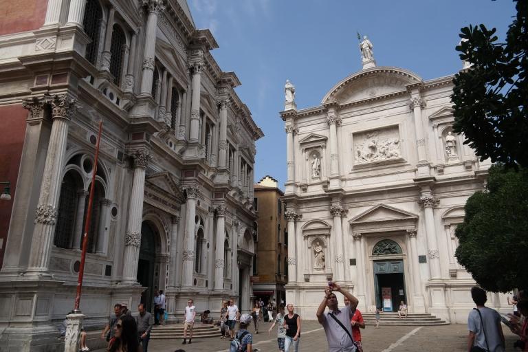 Scuola Grande di San Roccco is the building to the left.