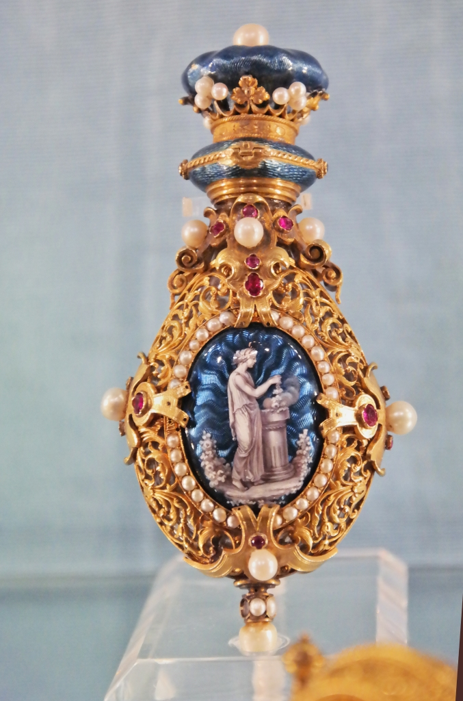 An 18th century perfume bottle.
