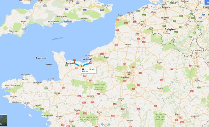 Honfleur to Bayeux