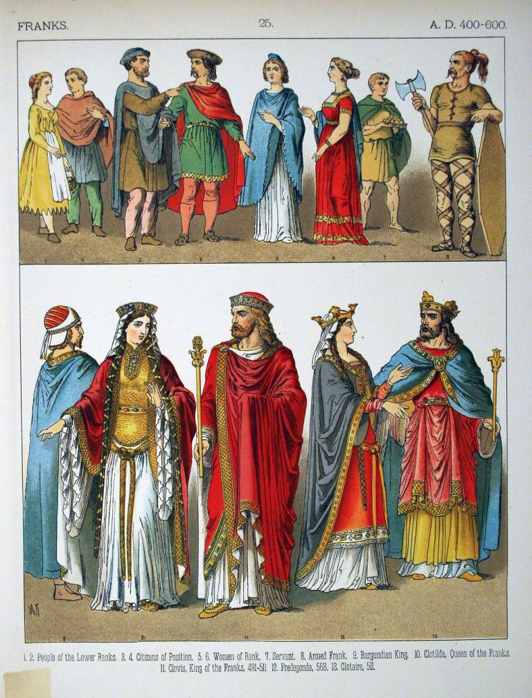 A.D._400-600,_Franks_-_025_-_Costumes_of_All_Nations_(1882)