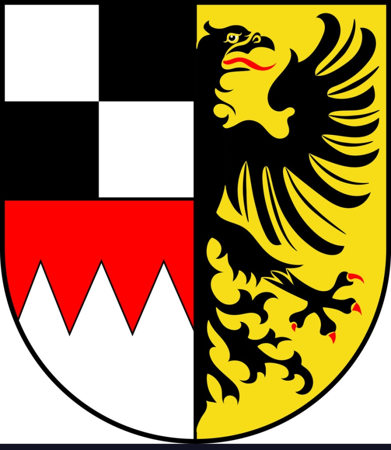 Coat of arms of Middle Franconia in Bavaria, Germany